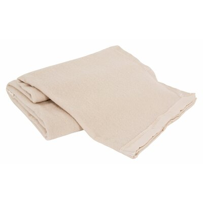 All-Natural  100% Australian Merino Wool Machine Washable Blanket Size: King, Color: Natural