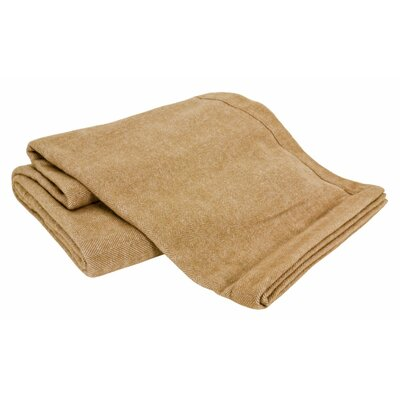 Luxurious All-Natural Alpaca / Lambswool Blanket Color: Herringbone Camel, Size: Twin
