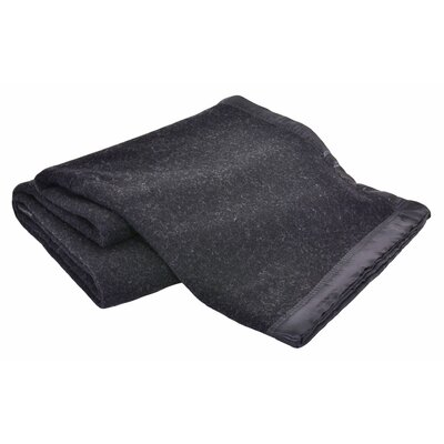 Luxurious All-Natural  100% Australian Merino Wool Blanket Size: Full / Queen, Color: Charcoal