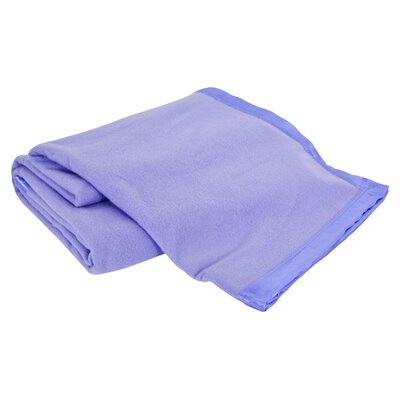 Luxurious All-Natural  100% Australian Merino Wool Blanket Color: Ice Blue, Size: Full / Queen
