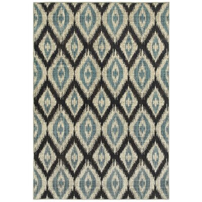 Dracut Vue Blue Area Rug Rug Size: Rectangle 910 x 1210