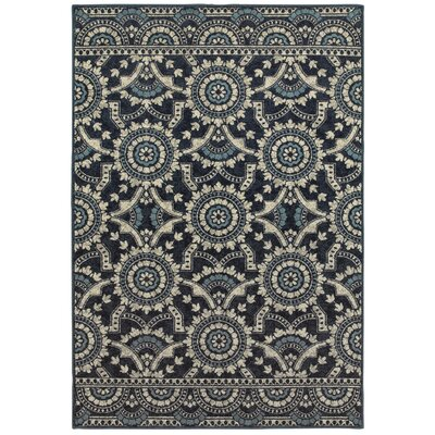 Mercado Garden Trellis Navy Area Rug Rug Size: Rectangle 53 x 76