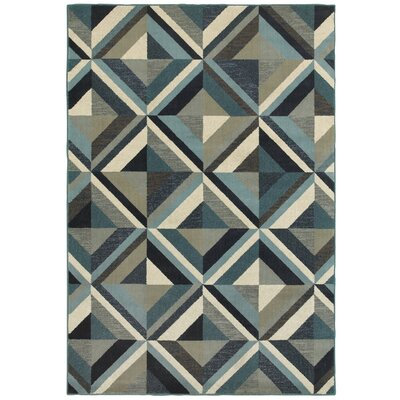 Dracut Geometrico Blue Area Rug Rug Size: Rectangle 67 x 96