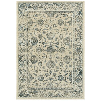 Lambeth Faded Garden Ivory Area Rug Rug Size: Rectangle 310 x 55
