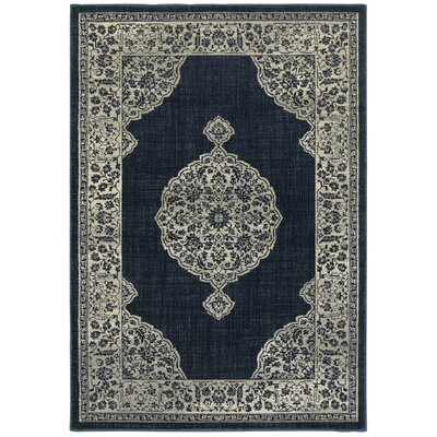 Lambeth Medallion Navy Area Rug Rug Size: Rectangle 53 x 76