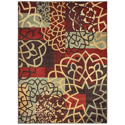 Ansley Floral Imprints Red/Multi Area Rug