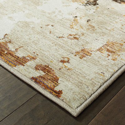 Knox Patina Beige/Charcoal Area Rug Rug Size: Rectangle 33 x 52