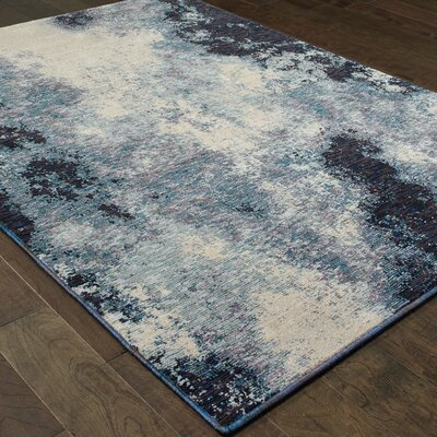 Knox Azul Navy/Ivory Area Rug Rug Size: Rectangle 110 x 32