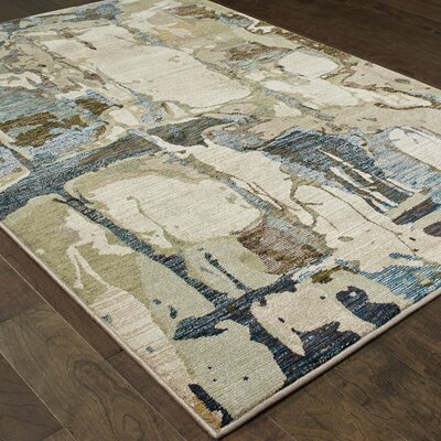 Knox Blue/Gray Area Rug Rug Size: Rectangle 33 x 52