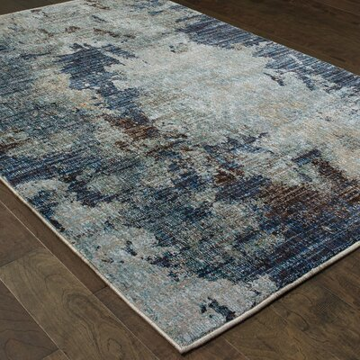 Knox Tierra Navy Blue Area Rug Rug Size: Rectangle 53 x 73