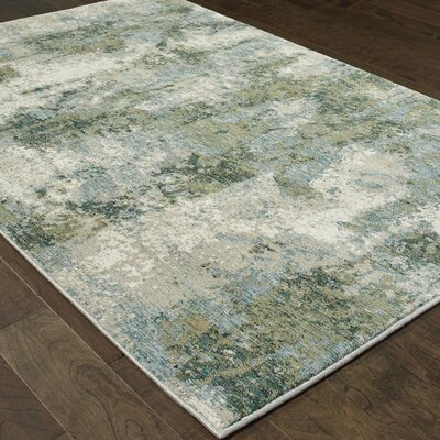 Knox Haze Blue/Green Area Rug Rug Size: 67 x 96