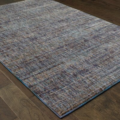 Bobby Purple/Gray Area Rug Rug Size: 33 x 52