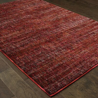 Bobby Red Area Rug Rug Size: 53 x 73