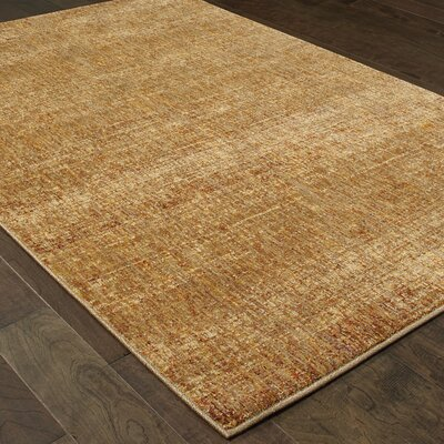 Bobby Gold Area Rug Rug Size: 86 x 117