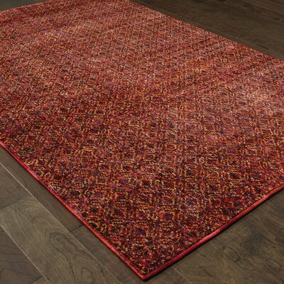 Bobby Red Area Rug Rug Size: Rectangle 710 x 1010