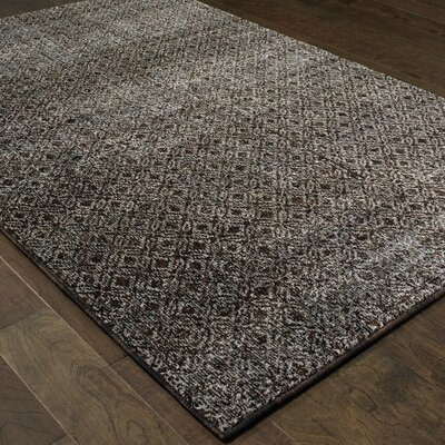 Bobby Black Area Rug Rug Size: Rectangle 53 x 73