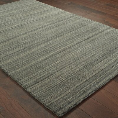 Alanna Hand-Tufted Wool Charcoal Area Rug Rug Size: Rectangle 8 X 10