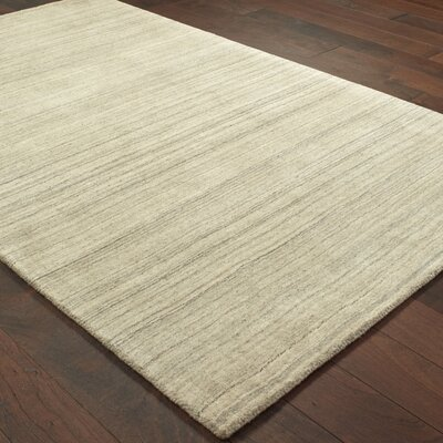 Alanna Hand-Tufted Wool Beige Area Rug Rug Size: 8 X 10