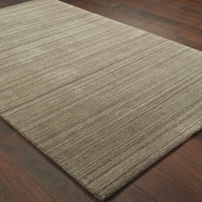Alanna Hand-Tufted Wool Brown Area Rug Rug Size: 10 X 13