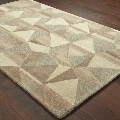 Frank Hand-Tufted Wool Beige Area Rug Rug Size: 10 X 13