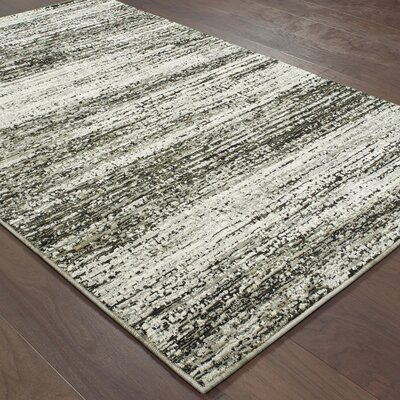 Bobby Ash/Charcoal Area Rug Rug Size: Rectangle 53 x 73
