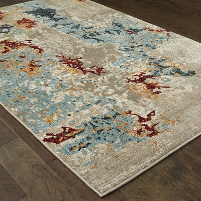 Knox Tierra Beige Area Rug Rug Size: Rectangle 53 x 73