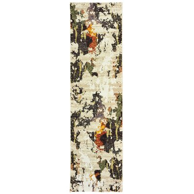 Knox Patina Beige/Charcoal Area Rug Rug Size: Runner 23 x 8