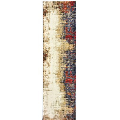 Knox Ivory Area Rug Rug Size: Runner 23 x 8