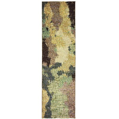 Knox Blue/Brown Area Rug Rug Size: Runner 23 x 8