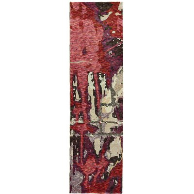 Knox Bordeaux Red/Beige Area Rug Rug Size: Runner 23 x 8