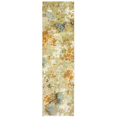 Knox Marble Gold/Beige Area Rug Rug Size: Runner 23 x 8