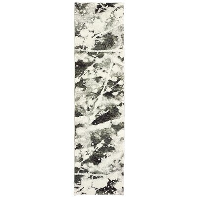 Knox Shadows Charcoal/White Area Rug Rug Size: Runner 23 x 8