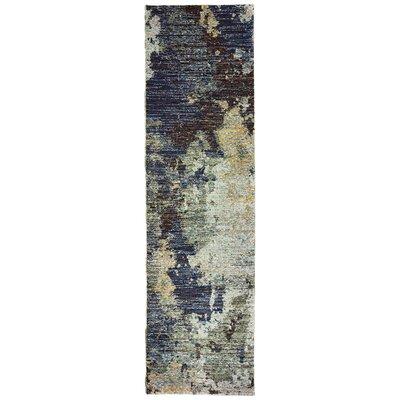 Knox Tierra Navy Blue Area Rug Rug Size: Runner 23 x 8