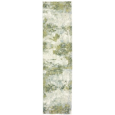 Knox Haze Blue/Green Area Rug Rug Size: Runner 23 x 8
