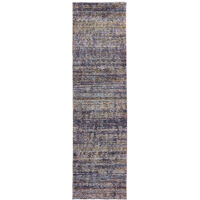 Bobby Purple/Gray Area Rug Rug Size: Runner 23 x 8