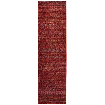 Bobby Red Area Rug Rug Size: Runner 23 x 8
