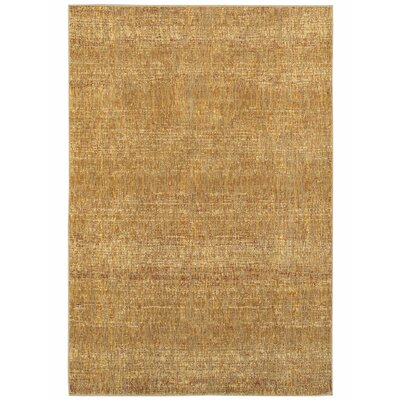 Bobby Gold Area Rug Rug Size: Rectangle 86 x 117