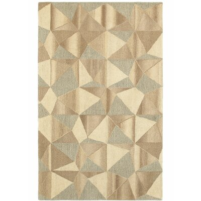 Frank Hand-Tufted Wool Beige Area Rug Rug Size: Rectangle 10 X 13