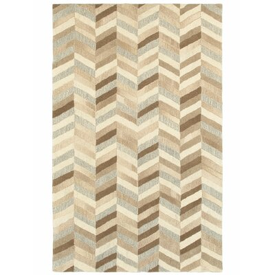 Frank Hand-Tufted Wool Beige Area Rug Rug Size: Rectangle 5 X 8