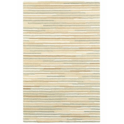 Alanna Hand-Tufted Wool Beige/Gray Area Rug Rug Size: Rectangle 36 X 56