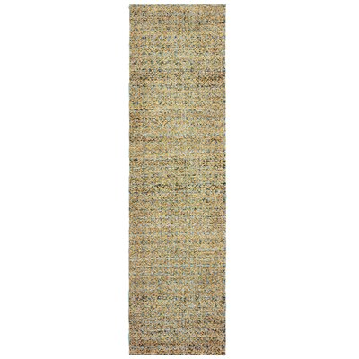 Bobby Blue/Gold Area Rug Rug Size: Runner 23 x 8