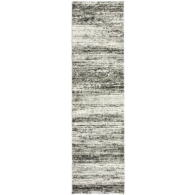 Bobby Ash/Charcoal Area Rug Rug Size: Runner 23 x 8