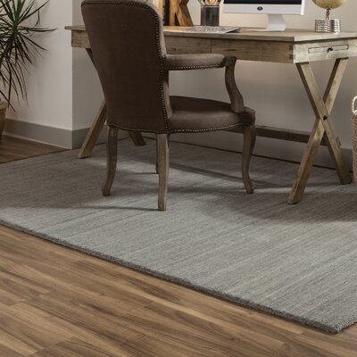 Alanna Hand-Tufted Wool Gray Area Rug Rug Size: Rectangle 5 X 8