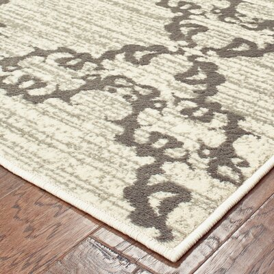 Dartington Lattice Filigree Ivory/Gray Area Rug Rug Size: Rectangle 53 X 7