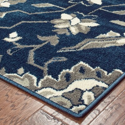 Dartington Borderless Traditional Blue/Grey Area Rug Rug Size: Rectangle 710 X 10