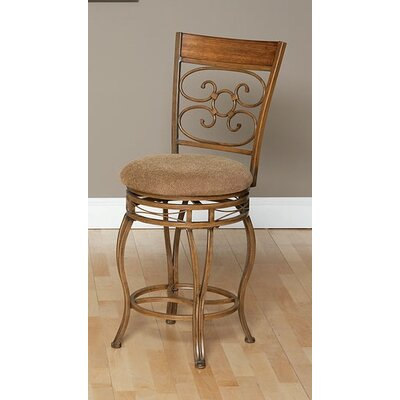Ellen Swivel Bar Stool Seat Height: 24