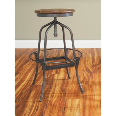 Abbey Adjustable Height Swivel Bar Stool Seat Height: 30