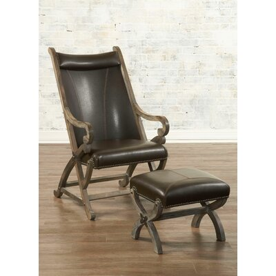 Hunter Chair and Ottoman Color: Brown