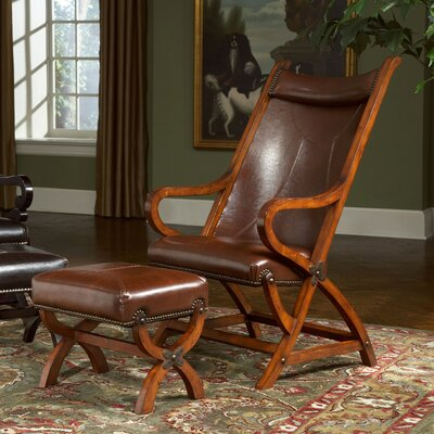 Hunter Lounge Chair and Ottoman Upholstery: Tobacco / Brown Leather