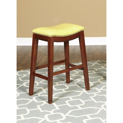 Fiesta 24 inch Bar Stool Upholstery: Yellow